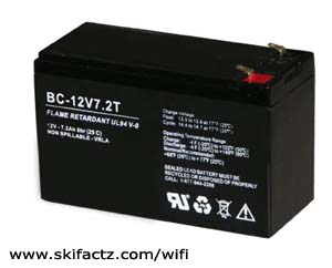 12V battery for wireless internet router project