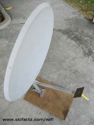 Internet antenna on a satellite dish
