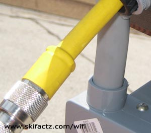 Heat shrink tubing on RF cable
