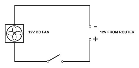 WiFi router cooling fan wiring diagram