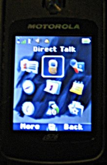 Nextel phone off network mode menu