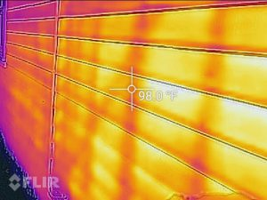 Looking through walls with a FLIR thermal camera.